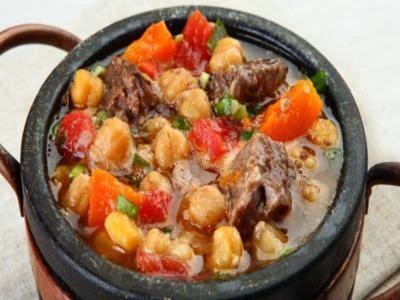 Receita de cozido de grão-de-bico