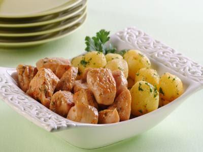 Receita de frango com molho e batata