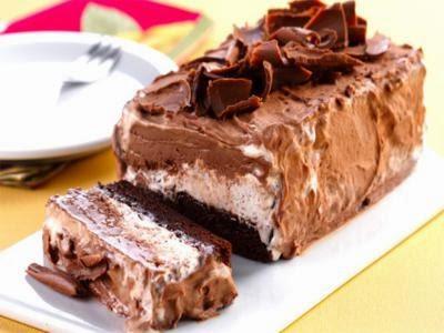 Receita de gelado de brownie