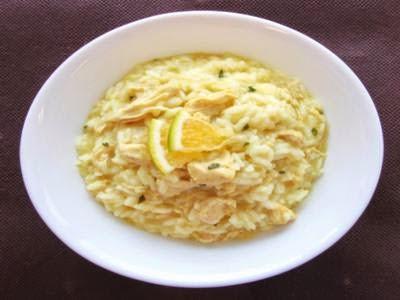 Receita de risoto de frango com laranja