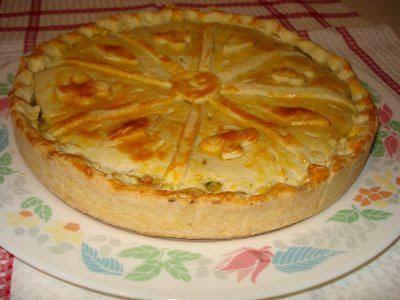 Torta de frango com palmito e catupiry