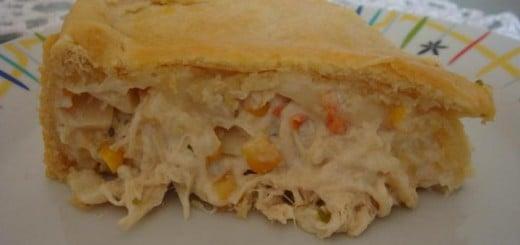 Receita de torta de frango com milho