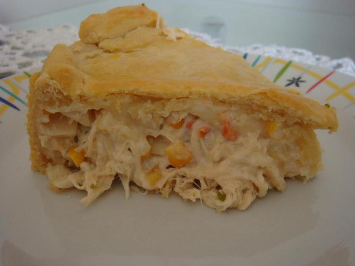 Torta de frango com milho