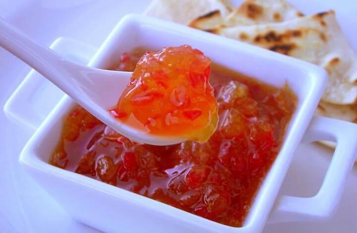 Receita de molho de pimenta adocicado