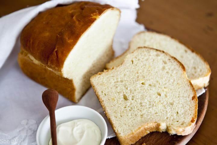 Pão caseiro de macaxeira (mandioca)