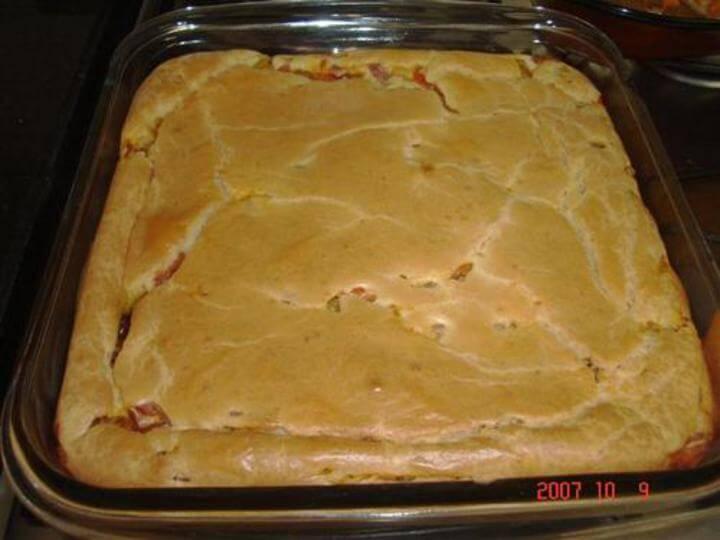 Receita de torta rápida de salsinha