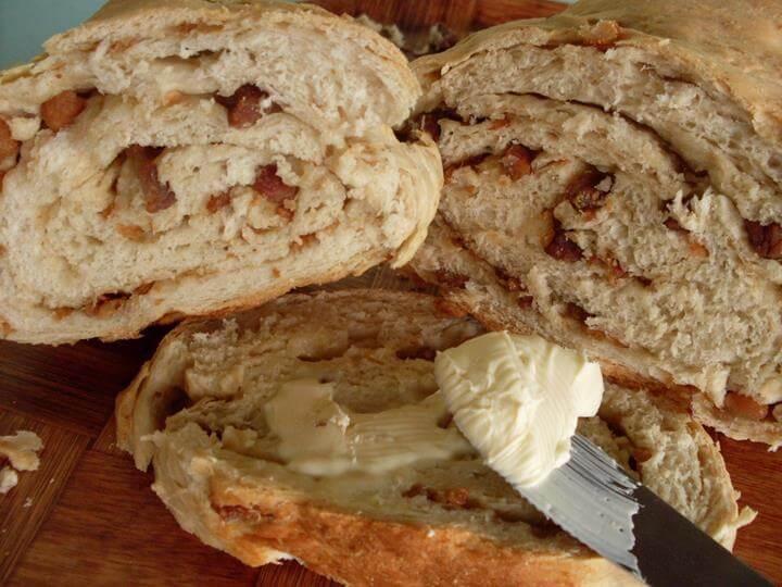 Receita de pão de torresmo