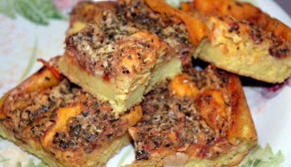 Pizza de sardinha de liquidificador